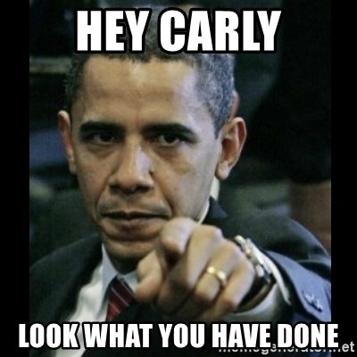 obama pointing - Hey Carly look what you have done