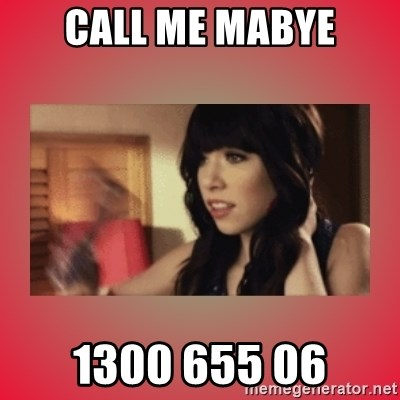 Call Me Maybe Girl - CALL ME MABYE 1300 655 06