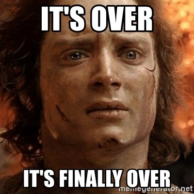 frodo it's over - It's over It's finally over