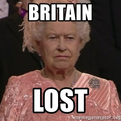 the queen olympics - BRITAIN LOST