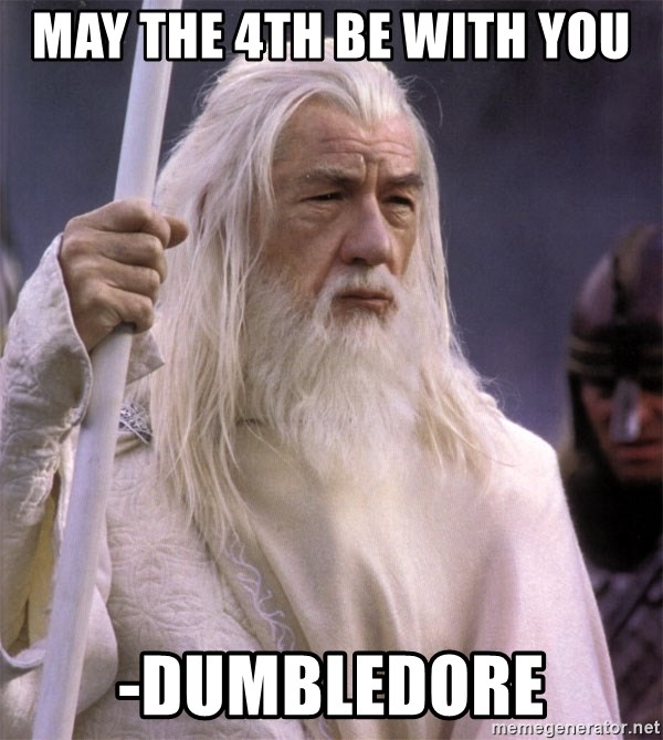 White Gandalf - May the 4th be with you -Dumbledore