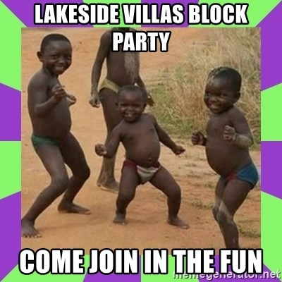 african kids dancing - Lakeside villas Block party Come join in the fun