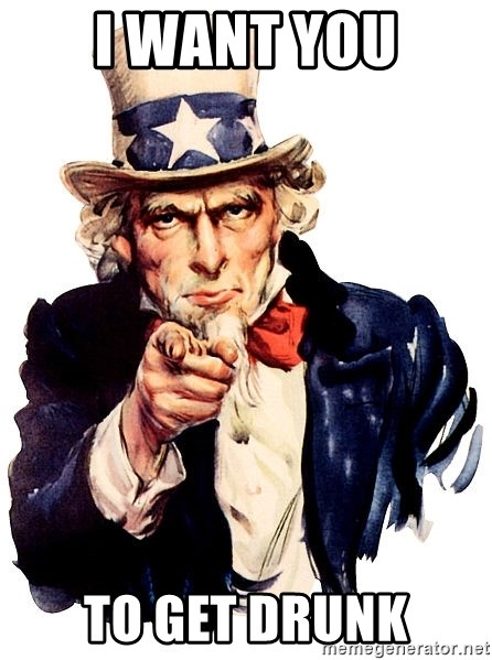 Uncle Sam Point - I WANT YOU TO GET DRUNK