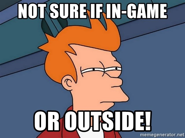 Futurama Fry - Not Sure if in-game Or outside!