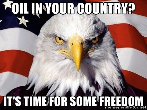 American Pride Eagle - Oil In your country? It's time for some freedom