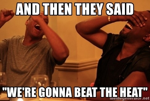 "Jay-Z & Kanye Laughing - and then they said ""we're gonna beat the heat"""