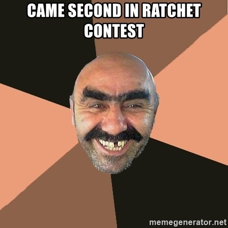 Provincial Man - came second in ratchet contest