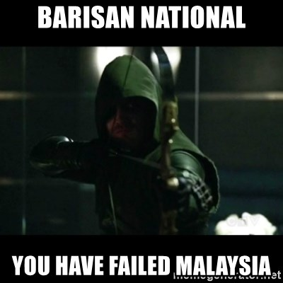 YOU HAVE FAILED THIS CITY - Barisan national you have failed Malaysia