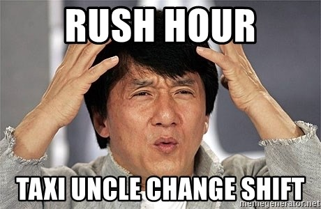 Jackie Chan - Rush hour Taxi uncle change shift