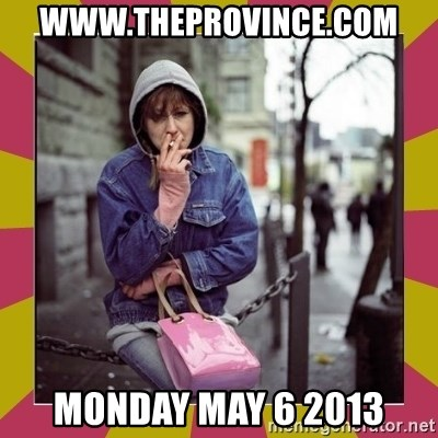 ZOE GREAVES DOWNTOWN EASTSIDE VANCOUVER - www.theprovince.com monday may 6 2013