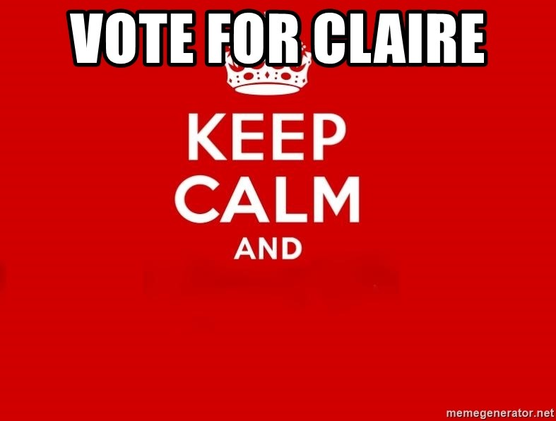 Keep Calm 2 - Vote for Claire