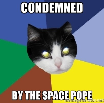 Winnipeg Cat - condemned by the space pope