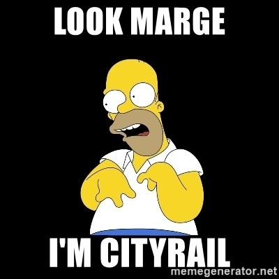 look-marge - Look marge I'm cityrail