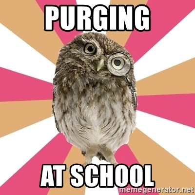 Eating Disorder Owl - purging at school