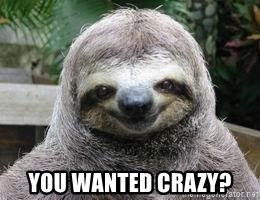 Sexual Sloth -  You wanted crazy?