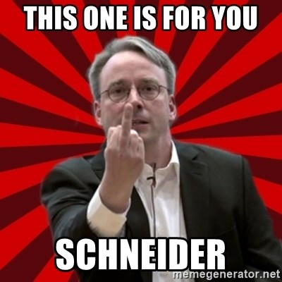 Angry Linus - THIS ONE IS FOR YOU  SCHNEIDER