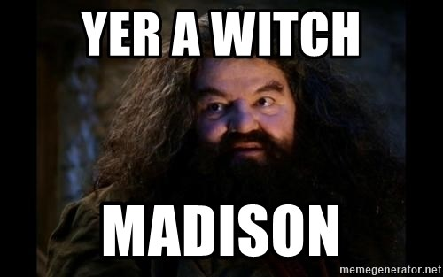 Yer A Wizard Harry Hagrid - Yer a witch madison