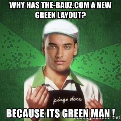 Caixas SS3 - why has the-bauz.com a new green layout? because its green man !