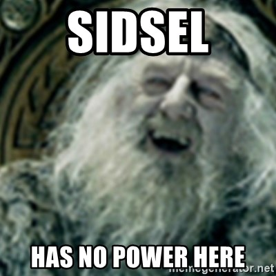 you have no power here - Sidsel has no power here