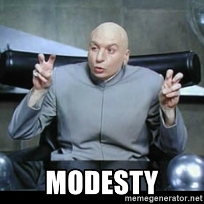 dr. evil quotation marks -  Modesty
