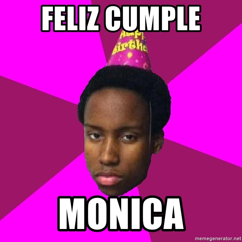 Happy Birthday Black Kid - FELIZ CUMPLE MONICA
