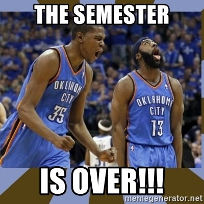 Durant & James Harden - the semester is over!!!