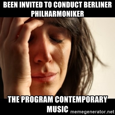 crying girl sad - BEEN INVITED TO CONDUCT BERLINER PHILHARMONIKER THE PROGRAM CONTEMPORARY MUSIC