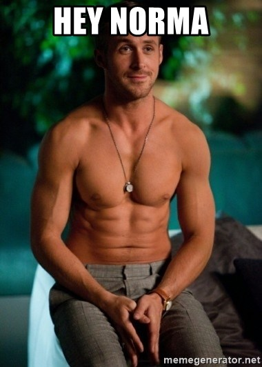 Shirtless Ryan Gosling - HEy Norma
