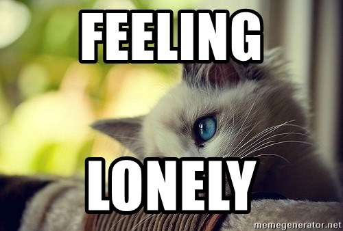 First World Problems Cat - feeling lonely