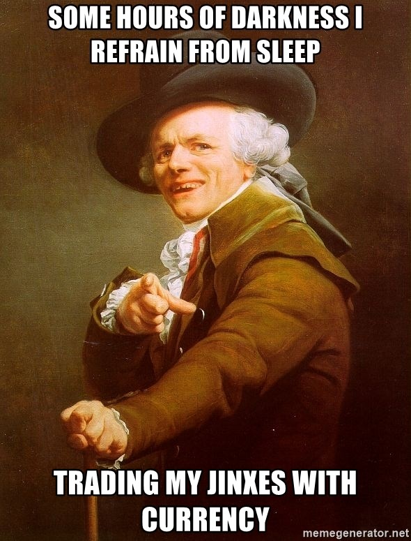 Joseph Ducreux - Some hours of darkness I refrain from sleep trading my jinxes with currency