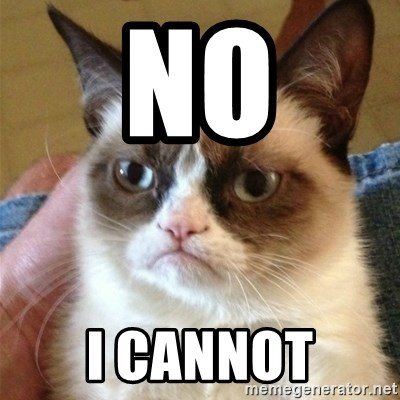Grumpy Cat  - No I cannot
