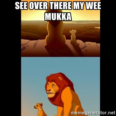 Lion King Shadowy Place - SEE OVER THERE MY WEE MUKKA