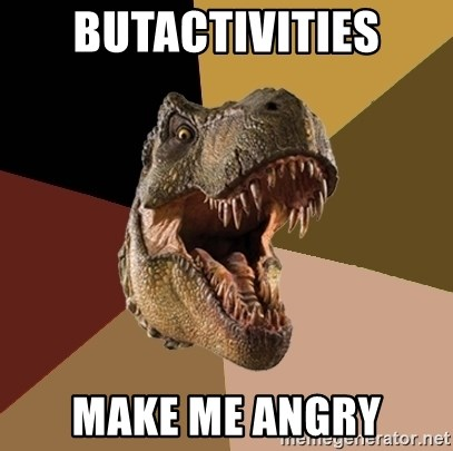 Raging T-rex - ButActivities Make Me Angry