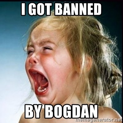 screaming girl - i got banned by bogdan