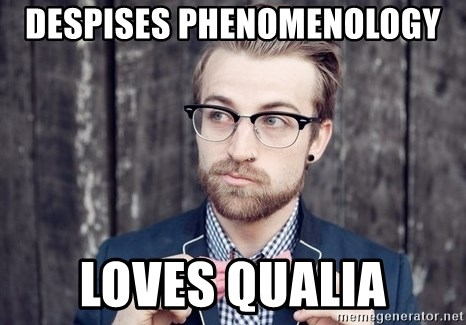 Scumbag Analytic Philosopher - Despises Phenomenology Loves qualia