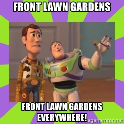 X, X Everywhere  - front lawn gardens front lawn gardens everywhere!
