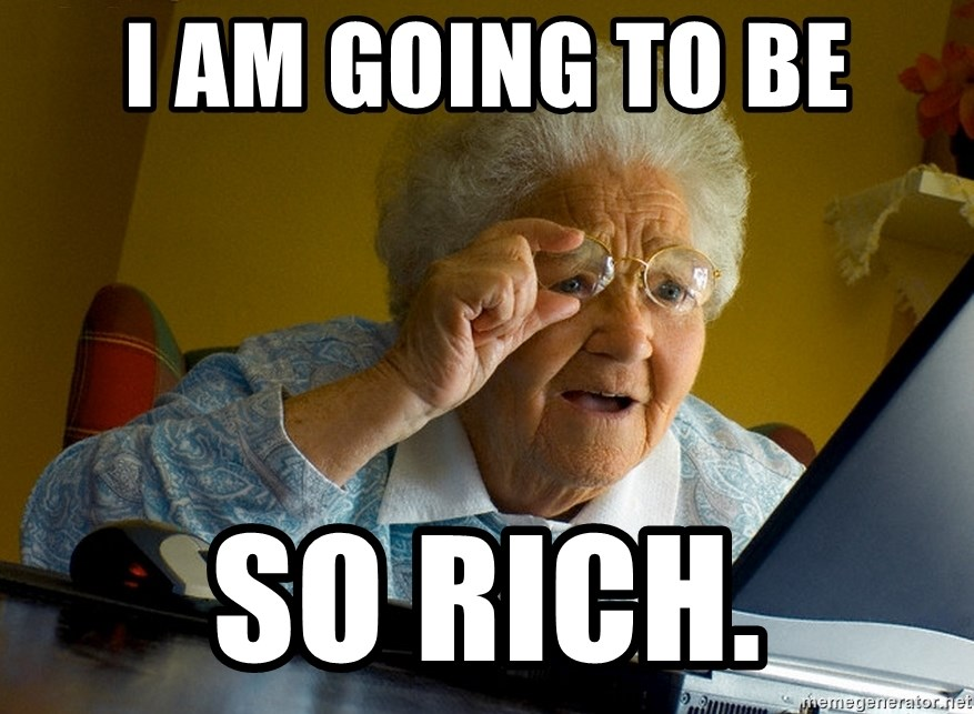 Internet Grandma Surprise - I AM GOING TO BE SO RICH.