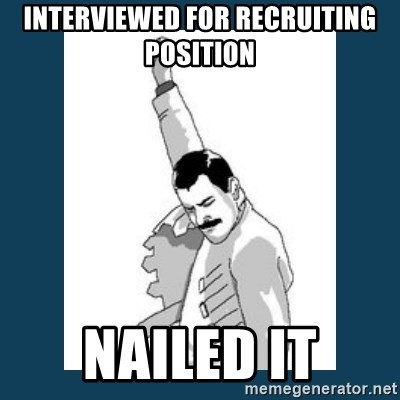 Freddy Mercury - Interviewed for recruiting position nailed it