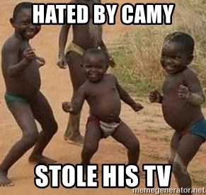 african children dancing - hated by camy stole his tv
