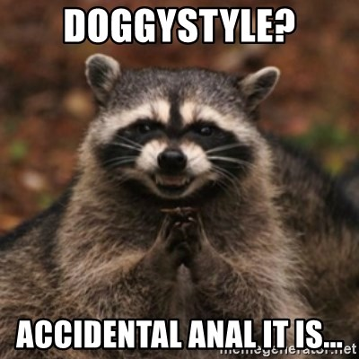 evil raccoon - Doggystyle? Accidental Anal it is...