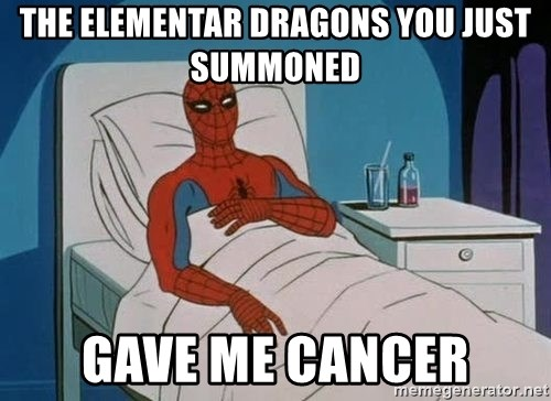 spiderman hospital - The Elementar Dragons you Just summoned gave me cancer