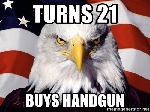 American Pride Eagle - Turns 21 Buys handgun
