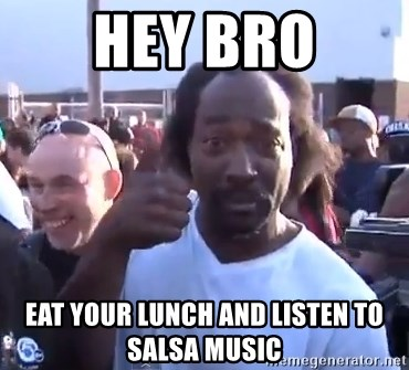 charles ramsey 3 - Hey Bro Eat your lunch and listen to salsa music