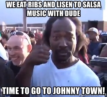 charles ramsey 3 - We eat ribs and lisen to salsa music with dude Time to go to Johnny Town!