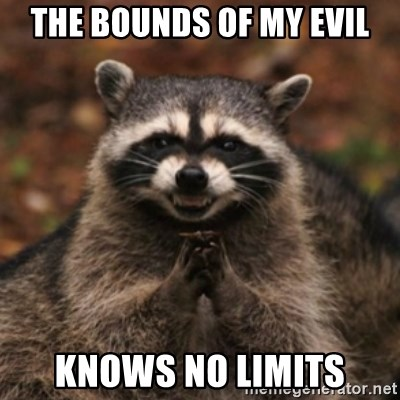 evil raccoon - THE bounds of my evil KNows NO LIMITs