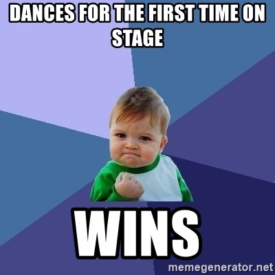 Success Kid - DANCES FOR THE FIRST TIME ON STAGE WINS