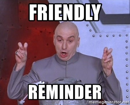 Dr. Evil Air Quotes - FrIendly Reminder