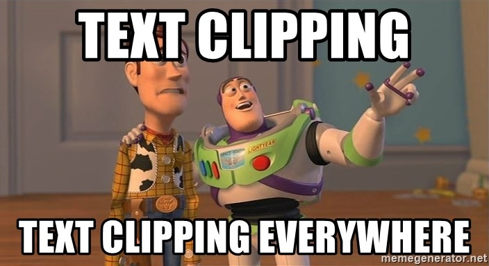 Toy Story Everywhere - Text clipping text clipping everywhere