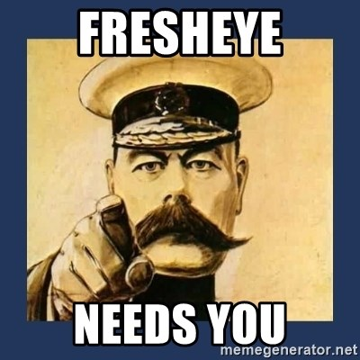 your country needs you - Fresheye needs you