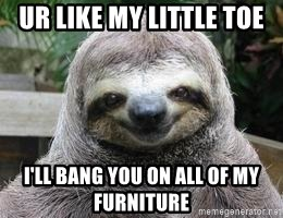 Sexual Sloth - UR LIKE MY LITTLE TOE I'LL BANG YOU ON ALL OF MY FURNITURE
